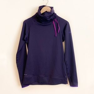 Nike Pro Purple Athletic Funnel Neck Pullover Med
